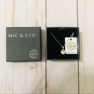 Nic and Syd Swarovski round pendant necklace